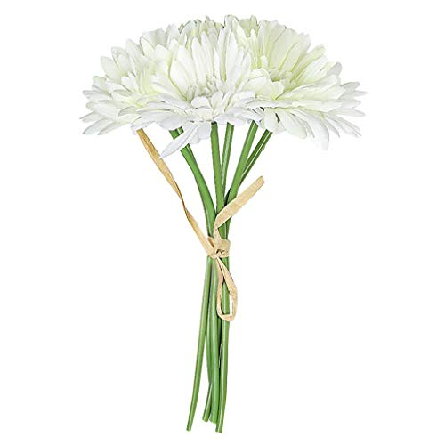 Iusun Artificial Daisy Gerbera Flower Romantic Plant Floral Valentine's Day Bridal Wedding Bouquet Party Festival Celebrations Holiday Plant Vase Potted Decorations (E) (Strings Daisy)