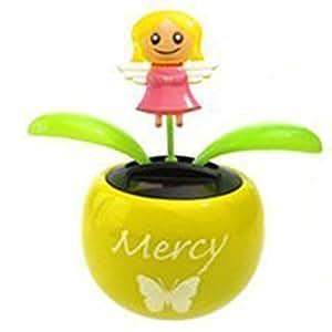 Solar Powered Dancing Angel in Flower (Mercy)