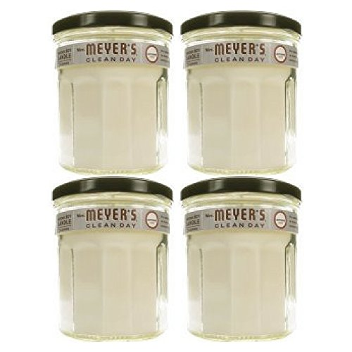 Mrs. Meyer's Clean Day Soy Candle Lavender Scented Large 7.2 Ounces - 4 count (Mrs Meyers Lavender Soy Candle)