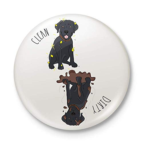Sutter Signs Clean Dirty Dog Dishwasher Magnet (Black ()