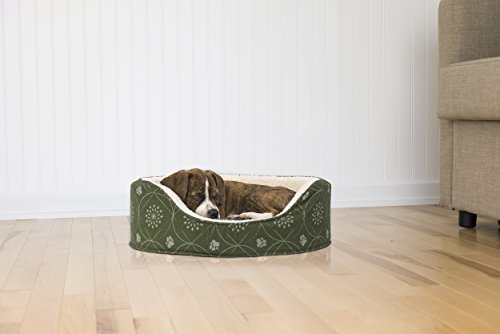 Furhaven Pet NAP Oval Lounger Bed for Dog or Cat