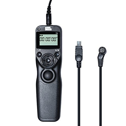 PIXEL Wired Timer Shutter Release Remote Control for Digital Cameras,eg Nikon D90 D600 D610 D3100 D3200 D3300 D5000 D5100 D5200 D5300 D7000 D800 D810 D1 D2 D700 Digital SLR Cameras by PIXEL