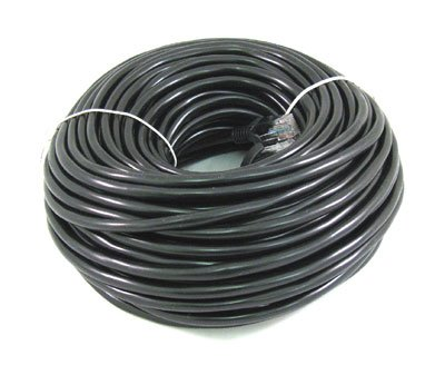 BLACK 100FT 100 Ft 100' Long CAT5 Enhanced CAT5E RJ45 PATCH 350MHz ETHERNET NETWORK CABLE For PC, Mac, Laptop, PS2, PS3, XBox, and XBox 360 to hook up on high speed internet DSL / Cable internet