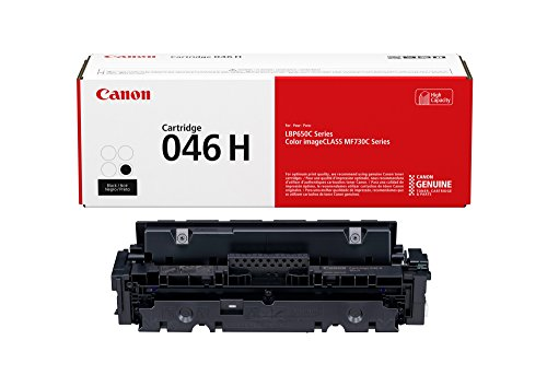 Canon 046 High Capacity Toner Cartridge (Black, 1 Pack) in Retail Packaging