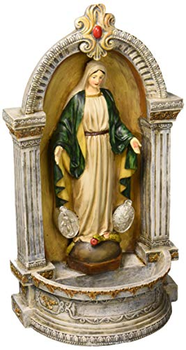 (Design Toscano Virgin Mary of The Miraculous Medal Italian-Style Font Statue, 12 Inch, Full)