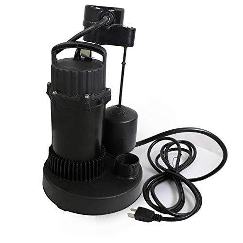 Everflow Submersible Sump Pump Tether 1/3 Hp Professional ()