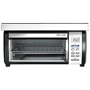 BLACK+DECKER TROS1000D Space Maker Under Counter Toaster Oven, Black/Stainless Steel