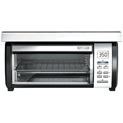 BLACK+DECKER TROS1000D Space Maker Under Counter Toaster Oven, Black/Stainless Steel (Toaster Oven Under Cabinet Mount compare prices)
