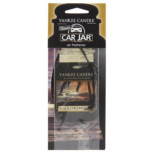 Yankee Candle Bougie parfumée 1295691Noir Classique voiture de noix de coco Pot durable service