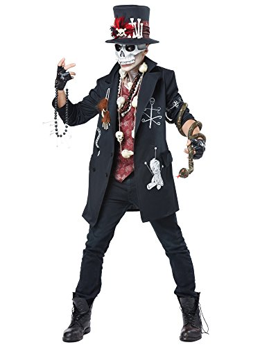 California Costumes Men's Voodoo Dude, Black/Burgundy