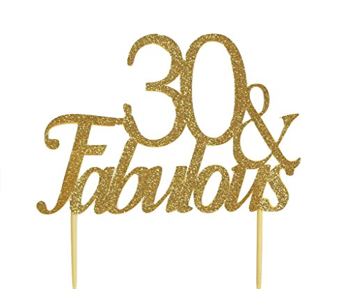 Gold 30 & Fabulous Cake Topper