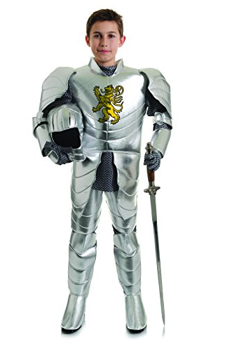 Underwraps Big Boy's Boy's Shining Knight Costume, Small Childrens Costume, Silver, Small