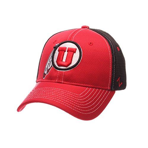 NCAA Utah Utes Men's Rally Z-Fit Cap, X-Large, Red/Black (Team Apparel Mesh Hat)