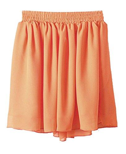 Orlando Johanson New Womens High Waist Pleated Double Layer Chiffon Skirt 4One Size - Designer Outlets Orlando