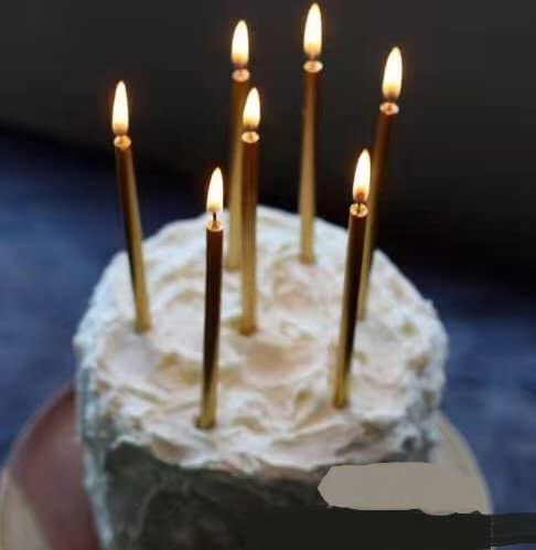 2 Pack Sparkling Birthday Party Cake Fountain Cake Topper Candles Silver or Gold