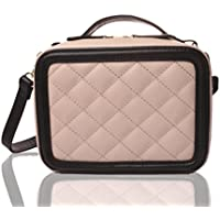Fujifilm mini 9 mini 8 Camera Accessories Case With Shoulder Strap For Cross Body Wear Zipper Universal Diamond Pattern Carrying Case for instax camera or film Photography Accessories (Beige)