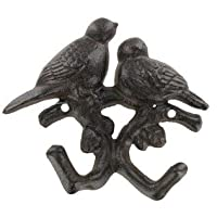 Home Accents Cast Iron Song Bird Pair Double Wall Hook