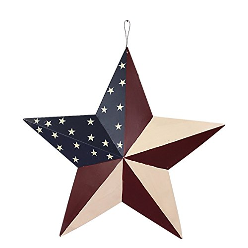 Metal Patriotic Old Glory American Barn Star 4th Of July Deocration (Blue Fence)
