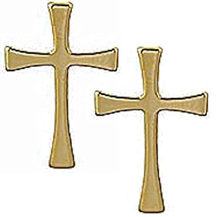 Amazoncom Maltese Cross Lapel Pins Gold Plated 3 Christian