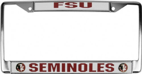 amazoncom florida state university seminoles fsu chrome license plate frame automotive license plate frames sports outdoors