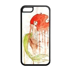 Mermaid personalizada suave fijación a presión carcasa de TPU para iPhone 5C