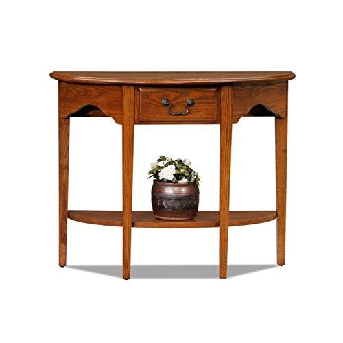 - Charlton Home Apple Valley Console Table, Half-moon Shape, Medium Oak