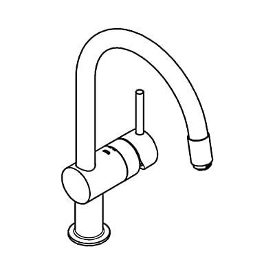 "GROHE 32918000 Extra Mount Minta Ohm Sink with 1/2"" C-Spout"
