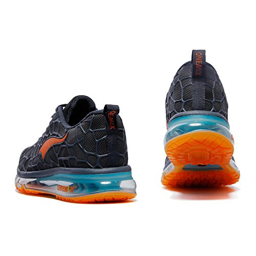 Breathable Adult Sports Trainers Onemix Shoes Unisex Blue Orange Air Mens Womens Walking Sneakers wnIT0q