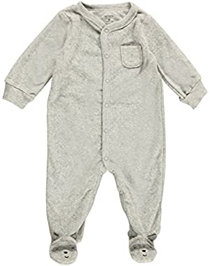 Carter's Baby Boys' Graphic Terry Footie (Baby) - Bear