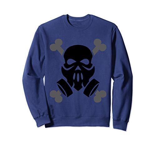 Dubstep Gas Mask Skull with Crossbones Sweatshirt friends ()
