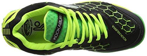 KOOKABURRA Gecko Senior Zapatilla de Hockey Negro/Verde