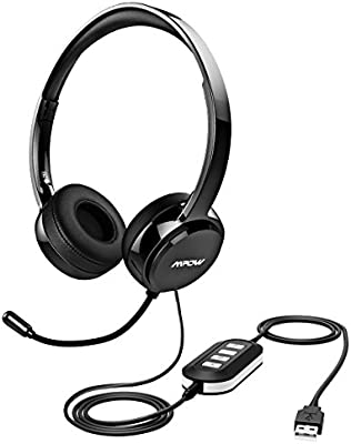 Mpow 071 USB Headset/ 3 5mm Computer Headset with Microphone