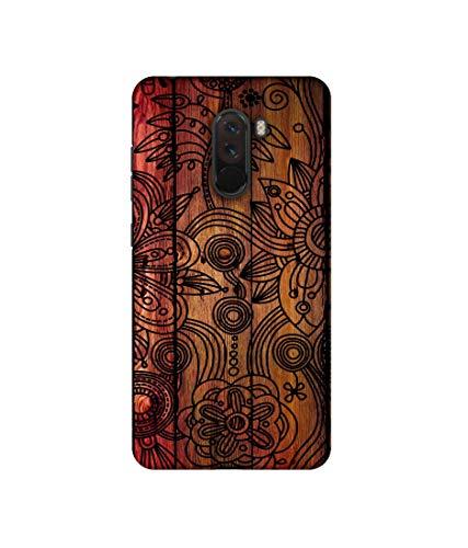 Casotec Dark Wooden Background Design 3D Printed Hard Back Case Cover for Poco F1