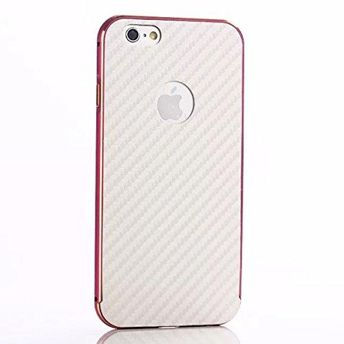 iPhone 5 5S Funda Case LifeePro Stylish 2 in 1 Patrón de teléfono híbrido [Anti-rasguños] [Antideslizante] Resistente a los golpes PU Cuero Blanco Contraportada + Caja de parachoques de aluminio para  Rosado