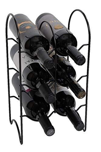 - Elaine Karen Deluxe 6 Bottle Wine Stand, Bordeaux Chateau Style Wine Rack - Black