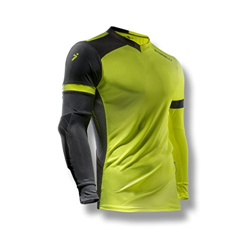 - Storelli ExoShield Gladiator Goalkeeper Jersey |Soccer Equipment Protection For Turf Burn  |Anti-Bacterial|Sweat-Wicking With Elbows Pads|Strike