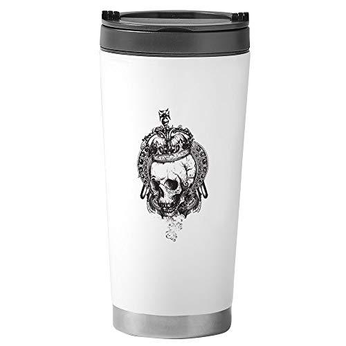 (Stainless Steel Travel Drink Mug Dead King Skull Crown )
