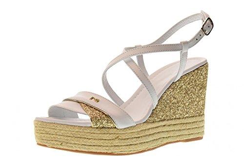 Nero Sandalias Cuña Mujeres 707 Las De Color Giardini Blanco P805891d Zapatos Ur54wqUt