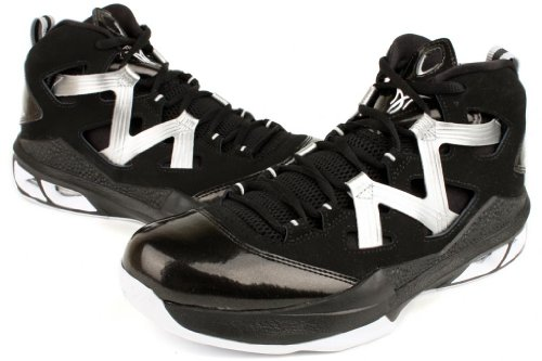 Nike Mens NIKE JORDAN MELO M9 BASKETBALL SHOES Black/White/Metallic Silver woCWyrWmf
