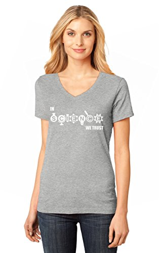 in Science We Trust - Cool Atheist Hipster Gift Idea V-Neck Women T-Shirt X-Large ()