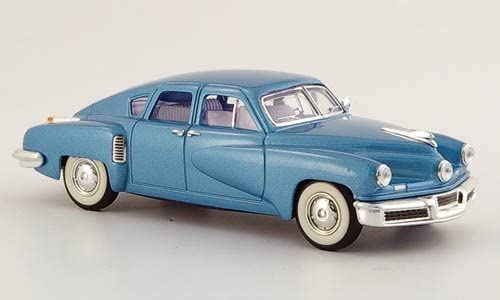 1948 Tucker Torpedo Fertigmodell Yat Ming 1:43 Modellauto met.-blau