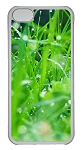 Customized Case Grass 2 PC Transparent for Apple iPhone 5C