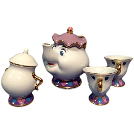 Disney Resort Limited Release Beauty And The Beast Mrs Potts And Chip Teapot Set Mrs Potts Of Pot U0026 Chip Of Tea Cup U0026 Sugar Pot