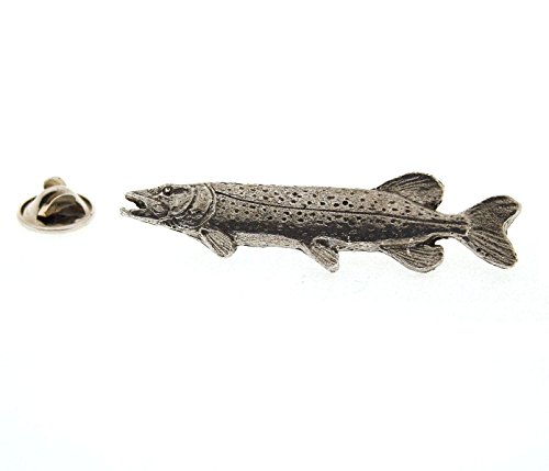 Chain Pickerel ~ Lapel Pin/Brooch ~ CWG-F065 ~ Pewter