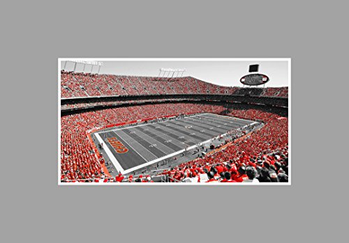 (Arrowhead Stadium - Football Touch of Color - 36x20 Matte Poster Print Wall Art TOC )