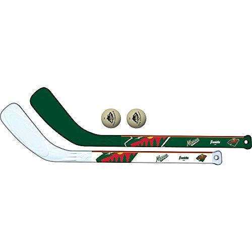 Franklin Sports NHL Minnesota Wild Mini Hockey 2 Piece Player Stick ()