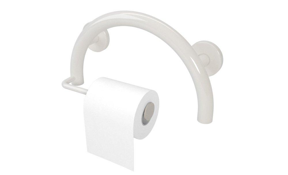Amazon.com: Toilet Paper Holder Semisphere Grab Bar (brushed nickel ...