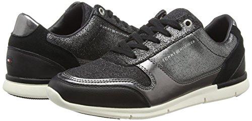 Sparkle Tommy Basses Sneaker Hilfiger 990 black Noir Light Sneakers Femme Fq5ZB1qw4