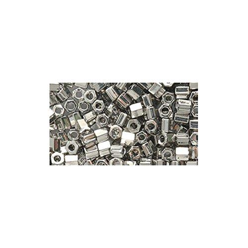 Shipwreck Beads 8/0 8c-194 Miyuki Seed Hex Cut Bead, Palladium Plate