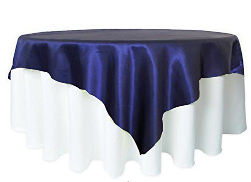 BITFLY 57Inch (145cm x 145cm) Square Satin Tablecloth Table Cover For Wedding Party Restaurant Banquet Decorations 21 Colors by BITFLY